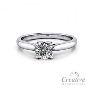 Luxusní zásnubní prsten s diamantem ZSP134