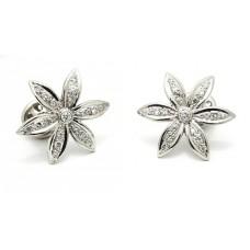 Diamantové náušnice - Kytky NA003