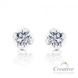 Luxusní náušnice s diamanty