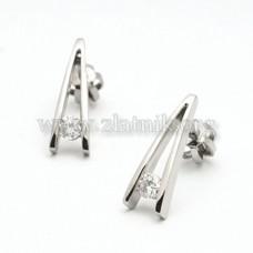 Náušnice s diamanty NA008