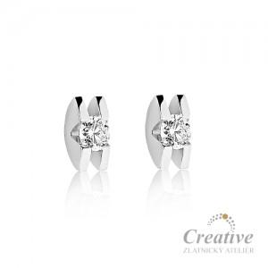 Náušnice s diamanty NA025