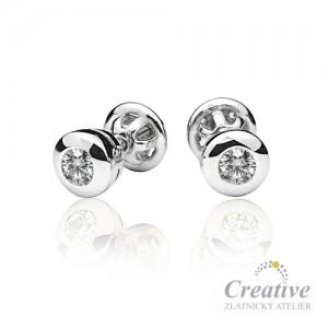 Elegantní diamantové náušnice NA010