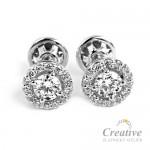 Luxusní zlaté náušnice s diamanty