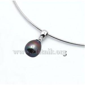 Přívěsek s černou perlou NAH008