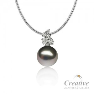 Přívěsek s tahitskou perlou a diamanty