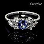 Luxusní prsten s Tanzanitem a diamanty