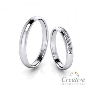 Snubní prsteny SP063