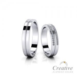 Luxusní snubní prsteny SP069