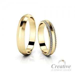 Luxusní snubní prsteny SP085