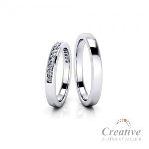 Luxusní snubní prsteny SP087