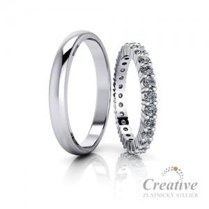 Luxusní snubní prsteny SP088