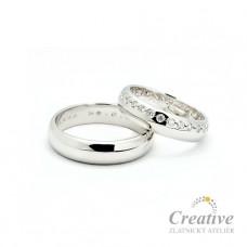 Luxusní snubní prsteny SP023