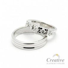 Luxusní snubní prsteny s brilianty SP029