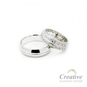 Luxusní snubní prsteny s Brilianty SP002