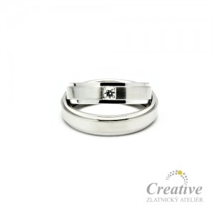 Snubní prsteny bílé zlato SP016