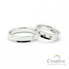 Snubní prsteny s Brilianty SP019