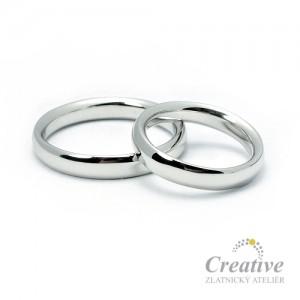 Elegantní snubní prsteny SP020