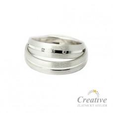 Moderní snubní prsteny SP021
