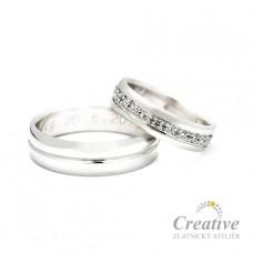 Luxusní snubní prsteny SP024