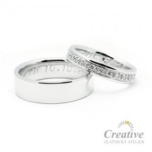 Krásné snubní prsteny SP004