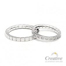 Luxusní snubní prsteny SP046