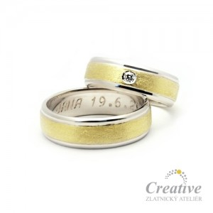 Kombinované snubní prsteny SP017