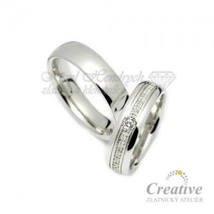 Elegantní snubní prsteny SP034