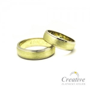 Snubní prsteny kombinované SP006