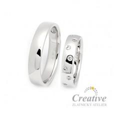 Nádherné snubní prsteny SP032