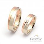 Kombinované snubní prsteny SP038