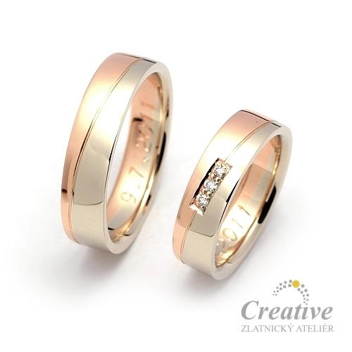 Kombinovane Snubni Prsteny Sp038