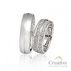 Luxusní snubní prsteny s brilianty SP031