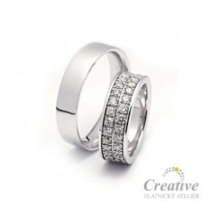 Luxusní snubní prsteny  SP030