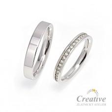 Elegantní snubní prsteny SP041