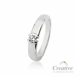 Zásnubní prsten s diamantem ZSP065