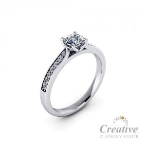Luxusní prsten s diamanty