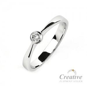 Zásnubní prsten s diamantem ZSP071