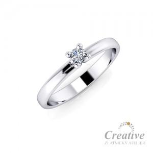 Zásnubní prsten s diamantem ZSP072