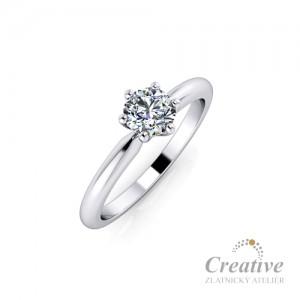 Zásnubní prsten s diamantem ZSP153