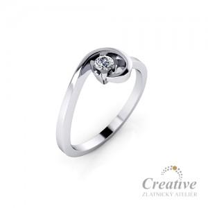 Zásnubní prsten s diamantem ZSP154