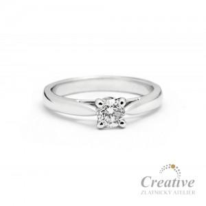 Luxusní zásnubní prsten s diamantem ZSP036