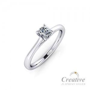 Luxusní zásnubní prsten ZSP088