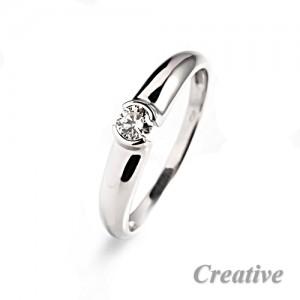 Zásnubní prsten s diamantem ZSP042