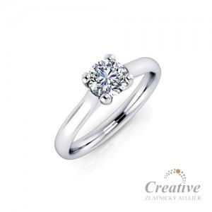 Luxusní zásnubní prsten s diamantem ZSP012