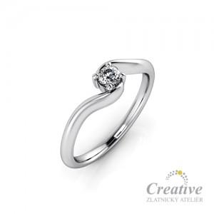 Zásnubní prsten s diamantem ZSP093