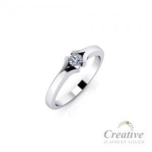 Zásnubní prsten s diamantem ZSP155