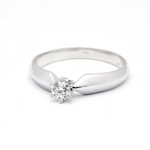 Klasický zásnubní prsten s diamantem ZSP018