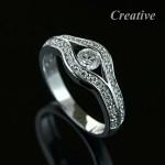 Luxusní zásnubní prsten s diamanty ZSP005