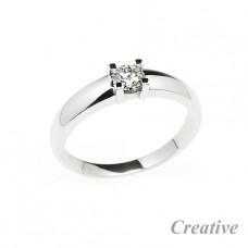 Klasický zásnubní prsten se čtvrtkarátovým diamantem ZSP013