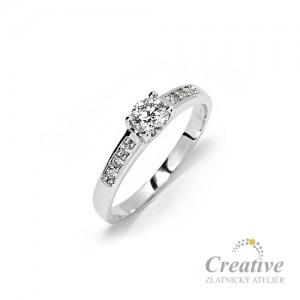 Luxusní zásnubní prsten s briliantem ZSP017